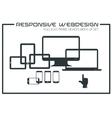 Flat responsive design kit vector image vector image