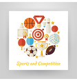 flat style circle set sport recreation and vector image