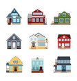 front view house exteriors vector image