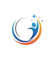 Fun people Healthy Life icon Logo template vector image vector image