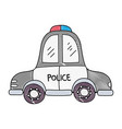 grated emergency police car transport with siren vector image vector image