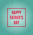 Happy Fathers Typographical Background With Hand vector image vector image