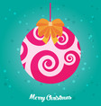 holidays greeting card with abstract doodle vector image