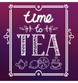 icon set with tea in flat style vector image vector image