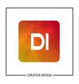 initial letter di logo template design vector image