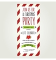 Invitation Merry ChristmasTypography vector image vector image
