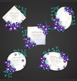 iris flower wedding invitation card vector image
