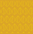 leaves golden yellow on mustard pattern vector image vector image