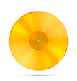 lp gold record icon gramophone music object vector image vector image