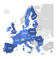 map of eu european union vector image vector image
