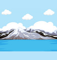 mountain next to the water vector image