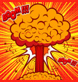nuclear burst in comic style design element vector image