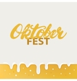 Octoberfest hand written calligraphy lettering vector image vector image