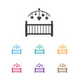 of child symbol on cradle icon vector image