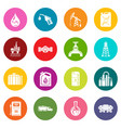 oil industry icons set colorful circles vector image vector image