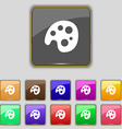 Palette icon sign Set with eleven colored buttons vector image