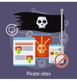 Pirate Sites Concept vector image