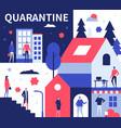 quarantine advice - colorful flat design style vector image