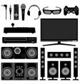 radio television system electronic appliances vector image