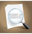 Reviewing Terms of Service vector image vector image