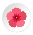 Rose of Sharon korean flower icon flat style vector image vector image