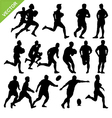 Rugby player silhouettes vector image