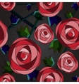 Seamless flower background with roses vector image vector image
