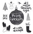 set of hand drawn christmas vector image vector image