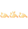 set of hand sketched happy easter text as pascha vector image