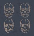 Set of Skulls isolated on background