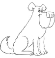 shaggy dog cartoon for coloring book vector image vector image