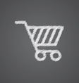 shopping cart sketch logo doodle icon vector image vector image