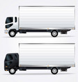 small medium sized transport delivery truck vector image