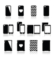Smartphone tablet case icons set vector image