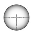 sniper scope cross rifle optical sight isolated vector image vector image