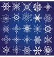 Snowflakes shapes big setChristmaswinter decor vector image vector image
