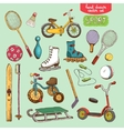 sport toys set vector image vector image