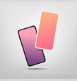 two modern smartphones with blank screen mock-up vector image vector image