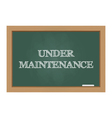 Under maintenance message on chalkboard vector image vector image