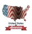 united states of america icon vector image vector image