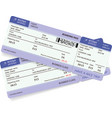 variant of two violet boarding pass vector image vector image