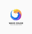 wave colorful sport concept design vector image