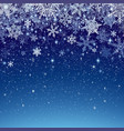 winter background with snowfall decoration for vector image vector image