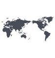 world map outline contour silhouette - asia in vector image vector image