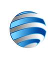 globe planet earth logo vector image
