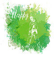 paint spot with splash in watercolor style vector image