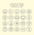 Education Linear Icons Collection vector image
