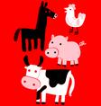 animal farm set vector image