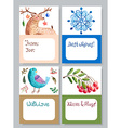 Watercolor beautiful gift cards collection vector image