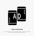 advertising mobile mobile advertising marketing vector image vector image